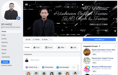 How to Create Facebook Page (Cara Buat Facebook Page) - Video oleh Dr. Muhamad Hariz