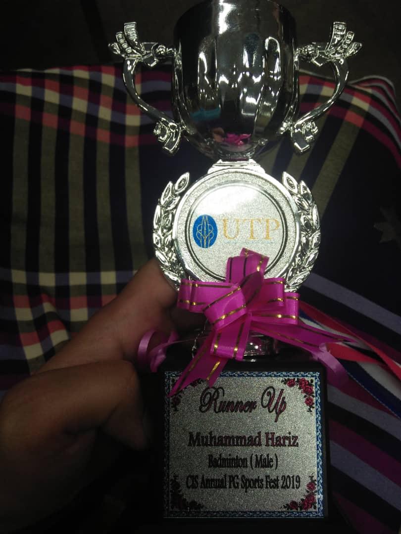 Dr Hariz i won a medal