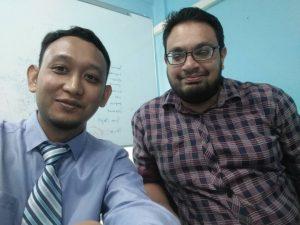 Dr Hariz with Dr Fahim