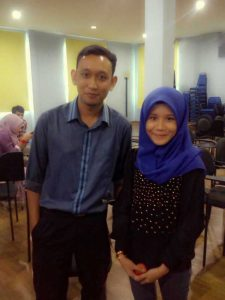 Younger me with student