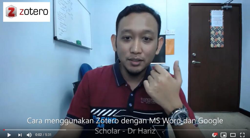 Cara menggunakan Zotero dengan MS Word dan Google Scholar